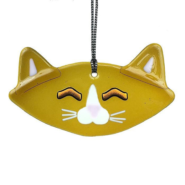 Russell, Brown Cat Ornament, Sun Catcher by Charlotte Behrens