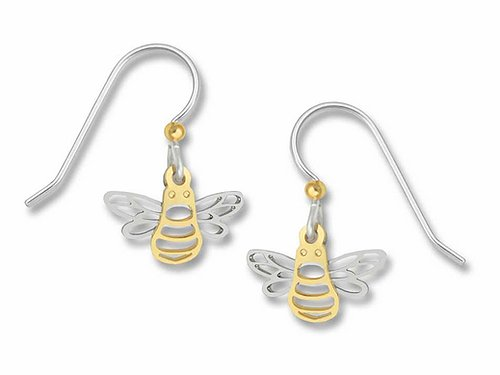 0715 Mini Filigree Bee Earrings by Barbara MacCambridge - © Blue Pomegranate Gallery