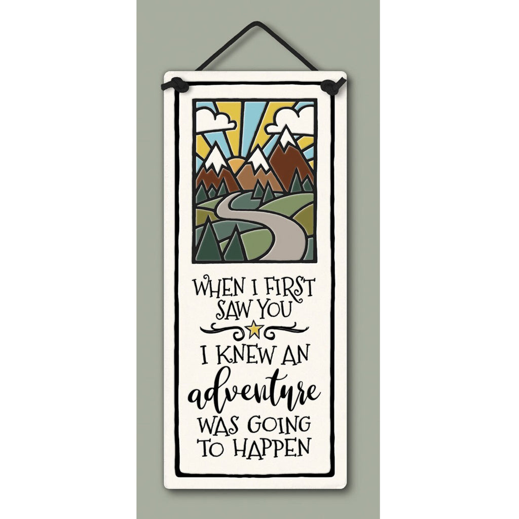 """First Saw You"" plaque by Michael Macone - © Blue Pomegranate Gallery"