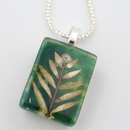 Sm Leaf Pendant by Mor - © Blue Pomegranate Gallery