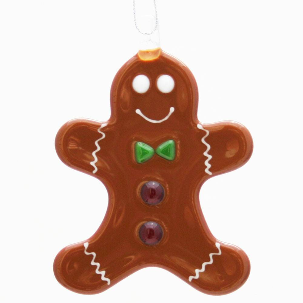 Gingerbread Man Ornament by Kristi Thorndike Kent - © Blue Pomegranate Gallery