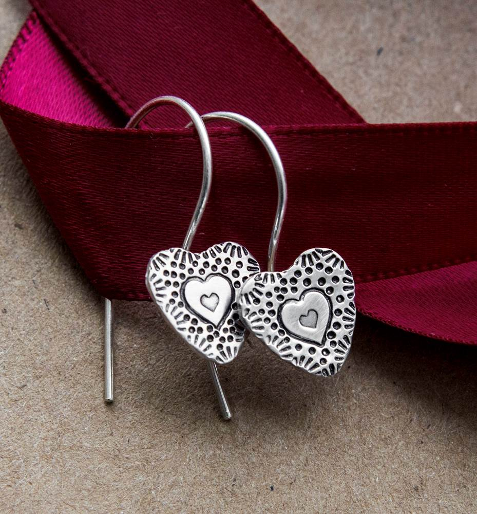 HMQ - Valentine- St. Silver Earrings by McQueen - © Blue Pomegranate Gallery