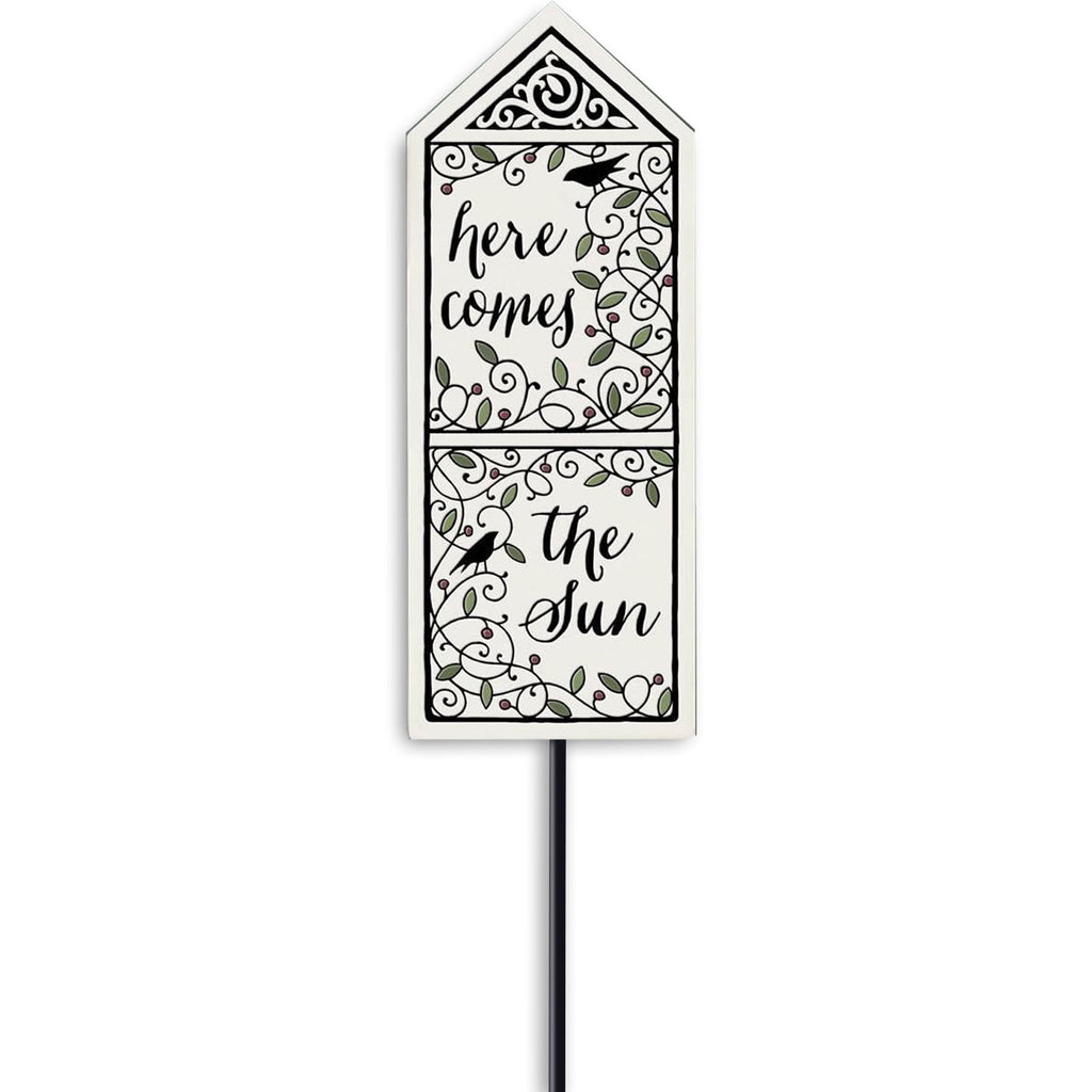 """Here Comes The Sun"" Garden Stake by Michael Macone - © Blue Pomegranate Gallery"