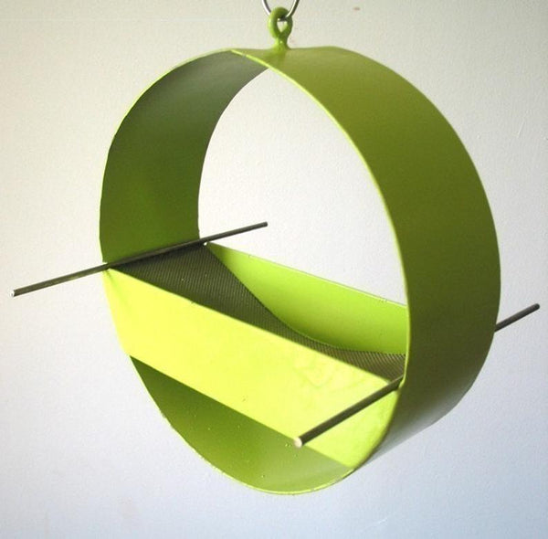 Charm Bird Feeder- Lime- by Joe Papendick