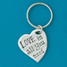Love Is Keychain by Bonnie Bond - © Blue Pomegranate Gallery
