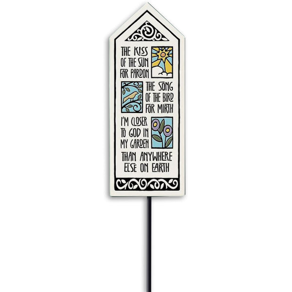 """Kiss of the Sun"" Garden Stake by Michael Macone - © Blue Pomegranate Gallery"