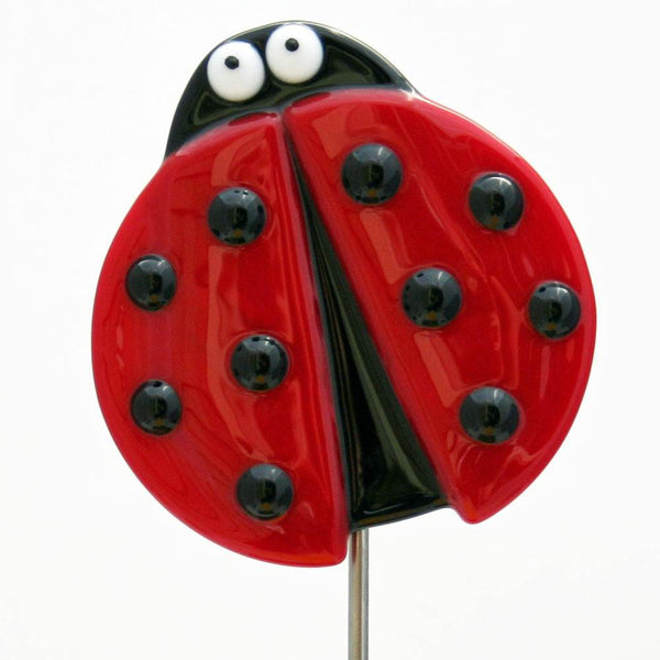 Ladybug Plant Stake by Kristi Thorndike Kent - © Blue Pomegranate Gallery