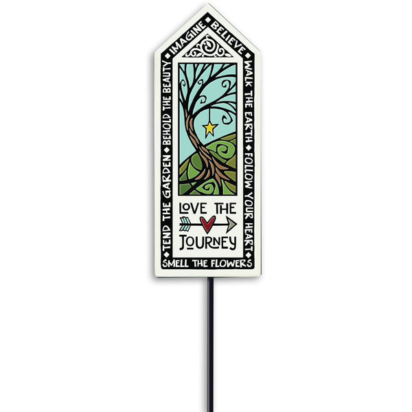 """Love the Journey"" Garden Stake by Michael Macone - © Blue Pomegranate Gallery"