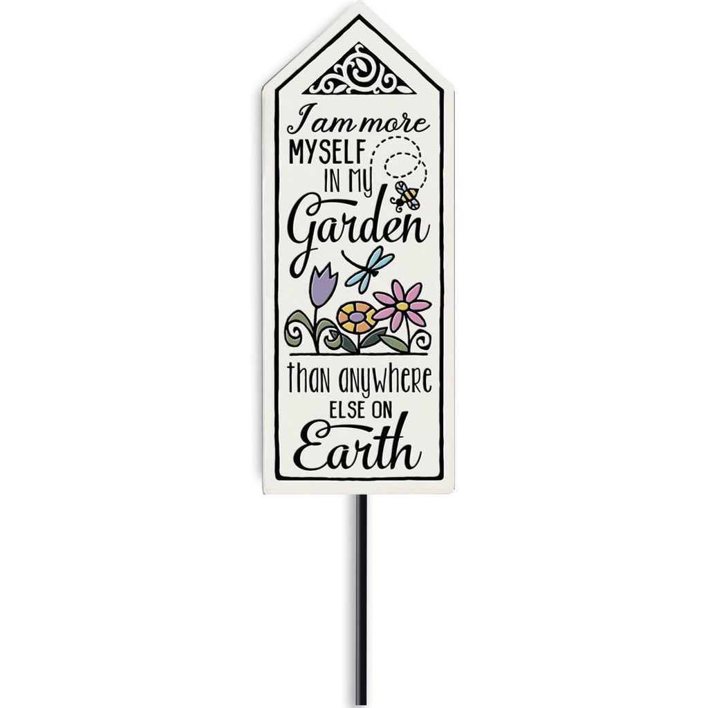 """More Myself"" Garden Stake by Michael Macone - © Blue Pomegranate Gallery"