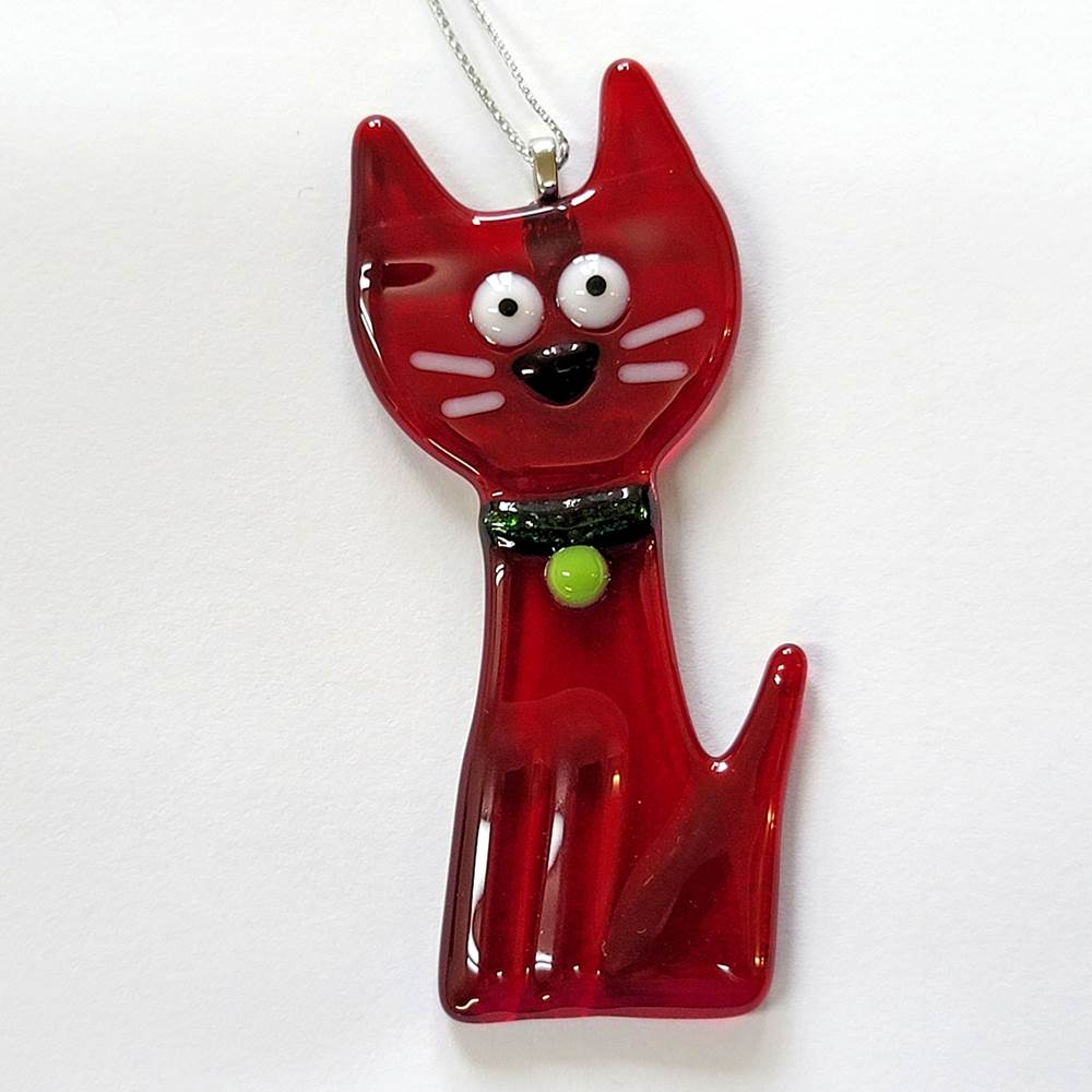 Red Cat Body Ornament by Kristi Thorndike Kent - © Blue Pomegranate Gallery