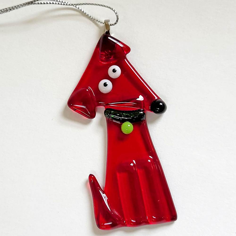 Red Dog Body Ornament by Kristi Thorndike Kent - © Blue Pomegranate Gallery