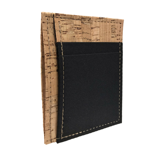 #13 Cork & Poly BLK Front Pocket Wallet by Dominic - © Blue Pomegranate Gallery