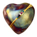 Raku Smooth Heart Rattle by Davis - © Blue Pomegranate Gallery