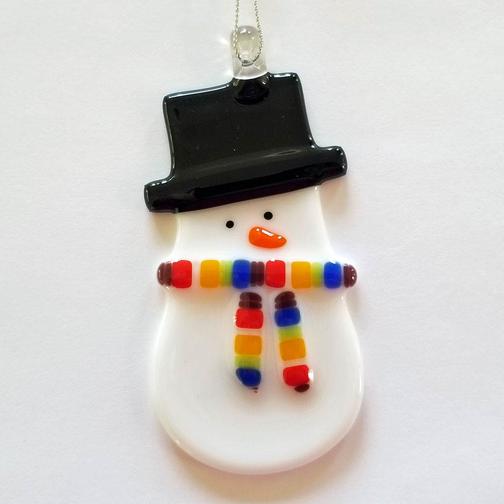 Snow Boy Rainbow Ornament by Kristi Thorndike Kent - © Blue Pomegranate Gallery