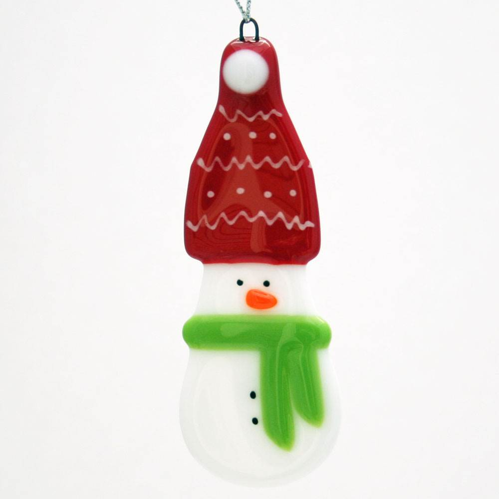 Red Snowman Ornament by Kristi Thorndike Kent - © Blue Pomegranate Gallery