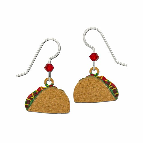 2192 Taco Earrings by Barbara MacCambridge - © Blue Pomegranate Gallery