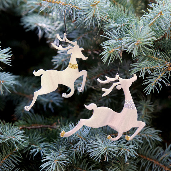 Tiny Reindeer Pair ornament by Sondra Gerber - © Blue Pomegranate Gallery
