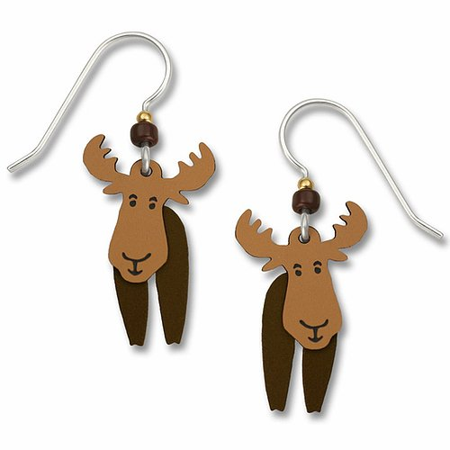 1247 Moving Moose Earrings by Barbara MacCambridge - © Blue Pomegranate Gallery