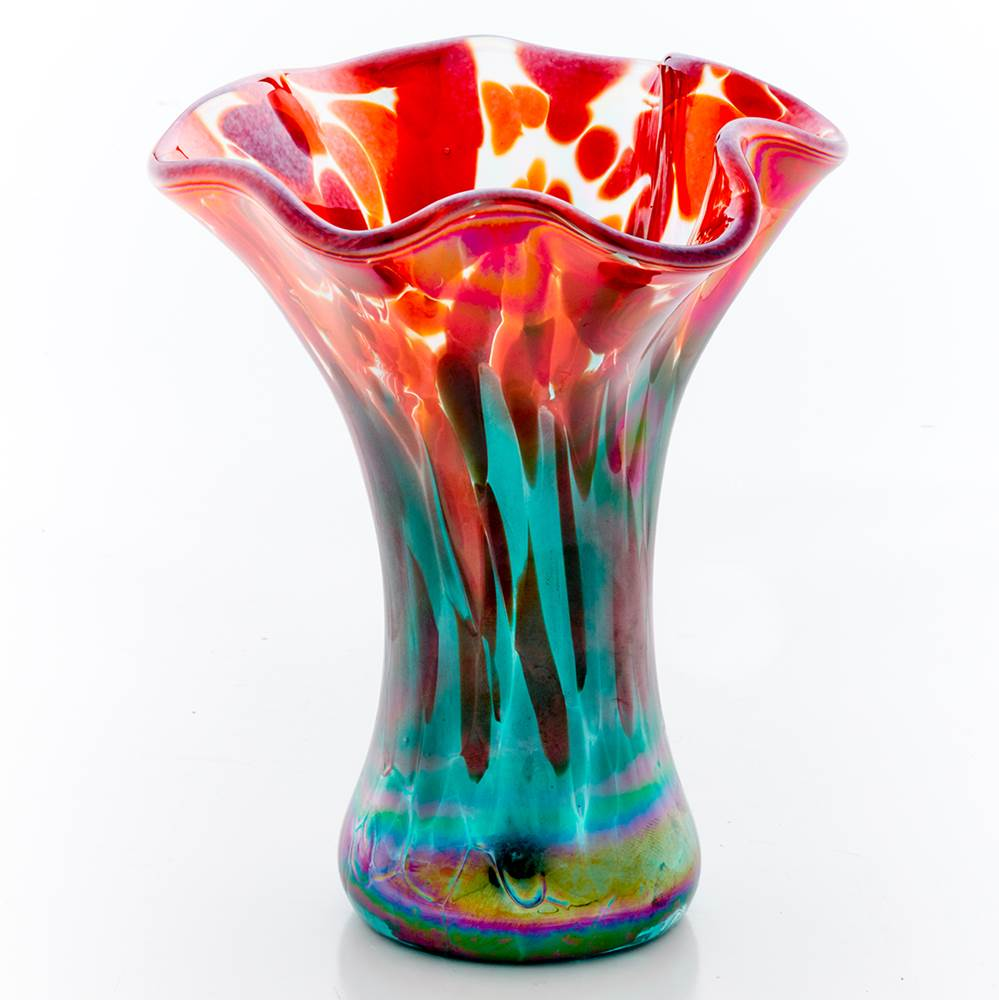 Mini Ruffle Vase by Glass Eye - © Blue Pomegranate Gallery