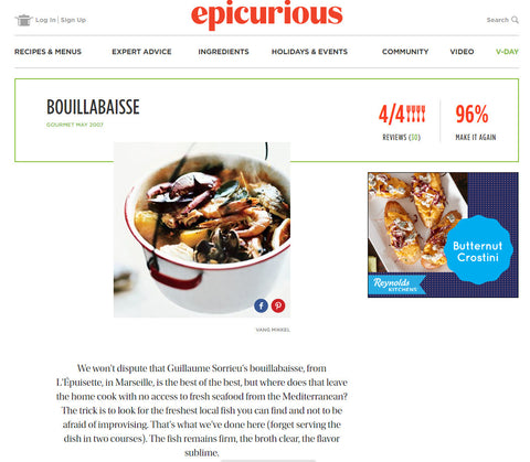 Bouillabaiss recipe screencapture