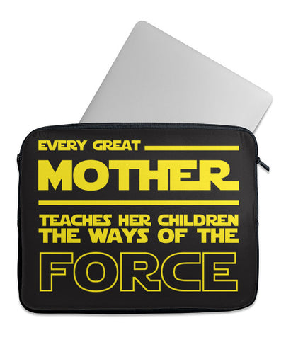 Every Great Mother Teaches The Force Laptop Case