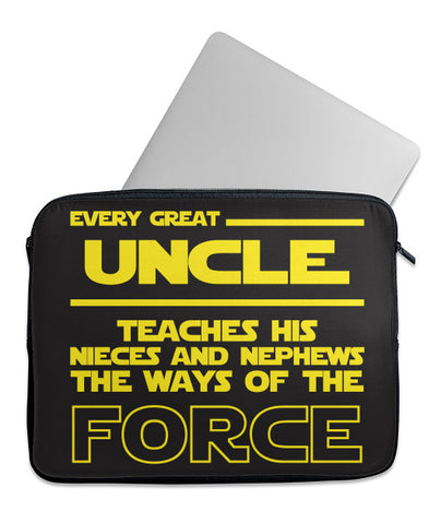 Uncle Teaches Force Laptop Case