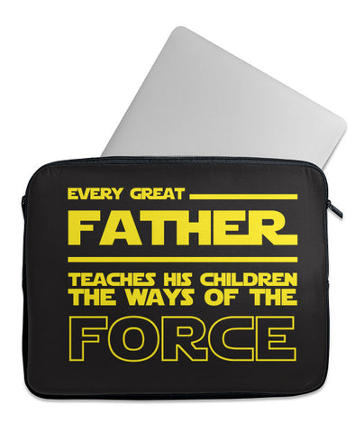 Every Father Teaches Force Laptop Case