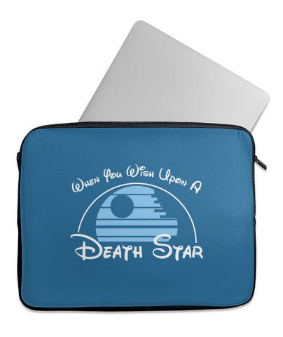 Wish Upon a Death Star Laptop Sleeve