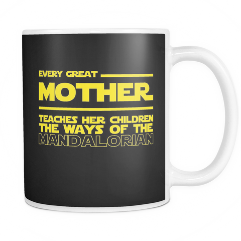Great Mother Teaches Mandalorian Mug