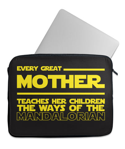 Every Mother Teaches Mandalorian Laptop Case