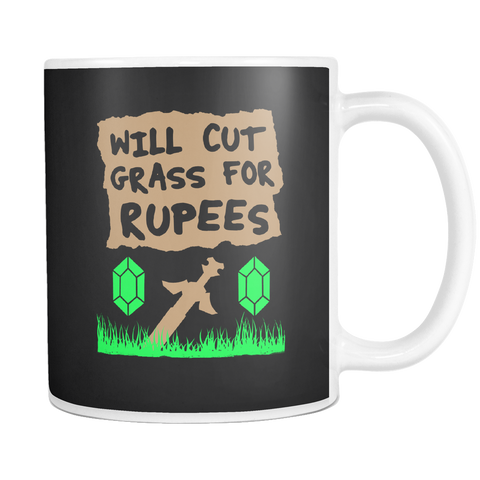 Will Cut Grass for Rupees Mug