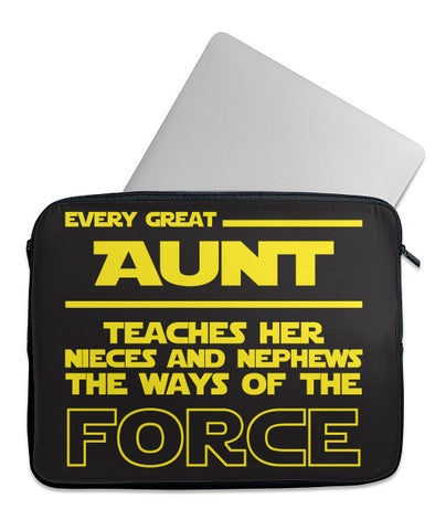 Every Aunt Teaches Force Laptop Case