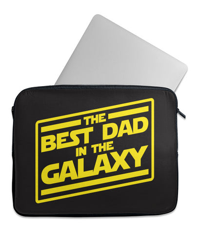 Best Dad in Galaxy Laptop Case