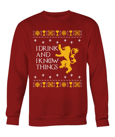Drink and Know Things Christmas Sweater
