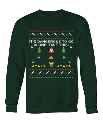 Dangerous to go Alone Christmas Sweater