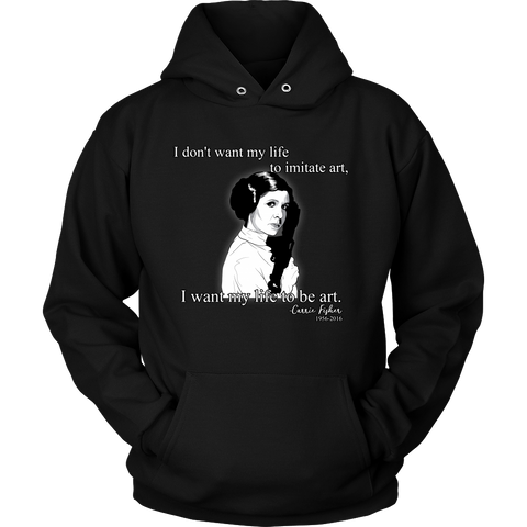 Carrie Fisher Tribute Hoodie and Long Sleeve