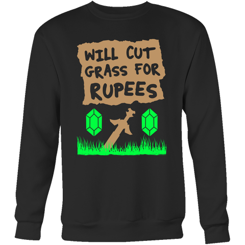 Will Cut Grass For Rupees Hoodie