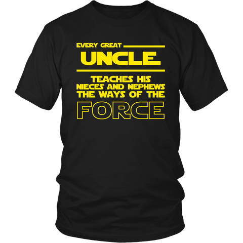 Great Uncle Teaches Force T-Shirt