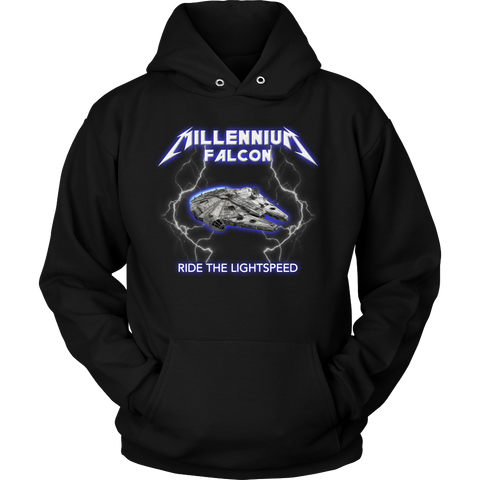 Millennium Falcon Meets Heavy Metal Hoodie and Long Sleeve