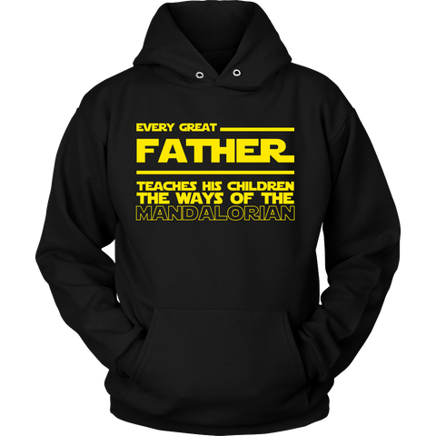 Great Father Teaches Mandalorian Hoodie