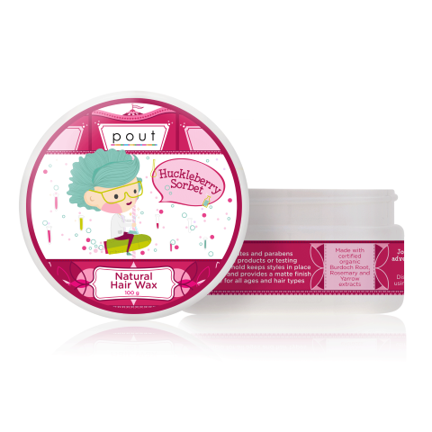 Huckleberry Sorbet Natural Hair Wax 100g