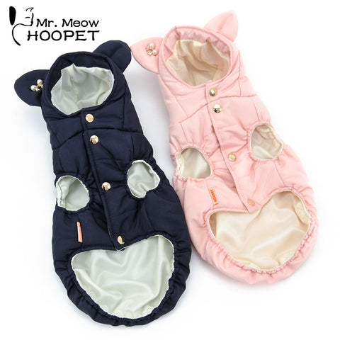Small Ears Cotton Cat Vest