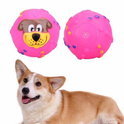 Soft Rubber Dog Face Chew Squeaker Toys, Dog toys, sillydealsonline, sillydealsonline