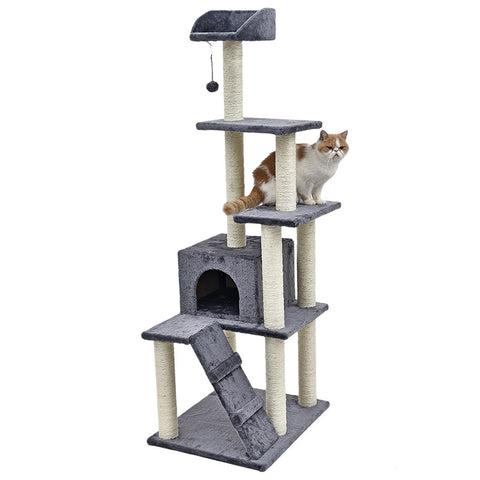 Heavy Cat Toy Scratching Wood Climbing Tree