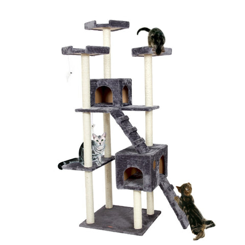 Luxury Cat Jumping Condo Wood Scratching Post