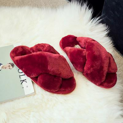 Cross Over Plush Slipper / 9 Colors - Showroom 007