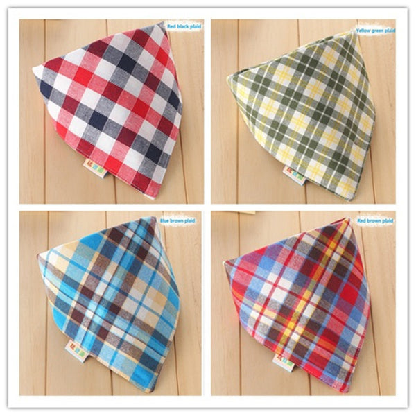 Unisex Baby Plaid Bandana Bib / 7 Colors