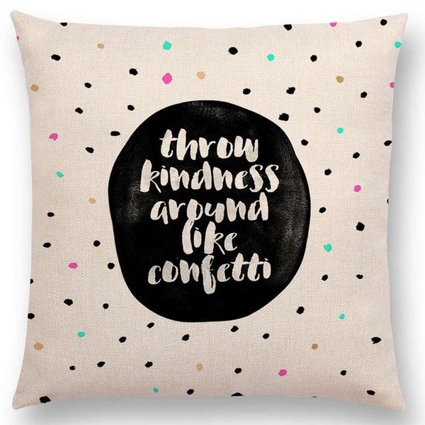 Happiness Is Life Pillow Cover - Showroom 007