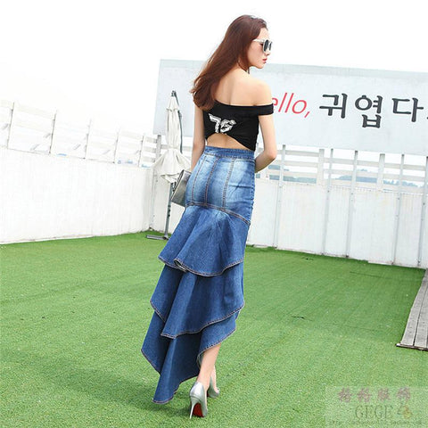 Blue Falls Denim Skirt