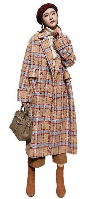 Plaid Sky's Coat